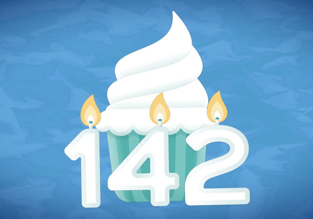 142nd birthday